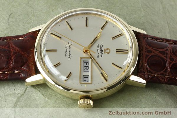 Used luxury watch Omega Seamaster 14 ct yellow gold automatic Kal. 1020 Ref. 004862 VINTAGE  | 141878 05