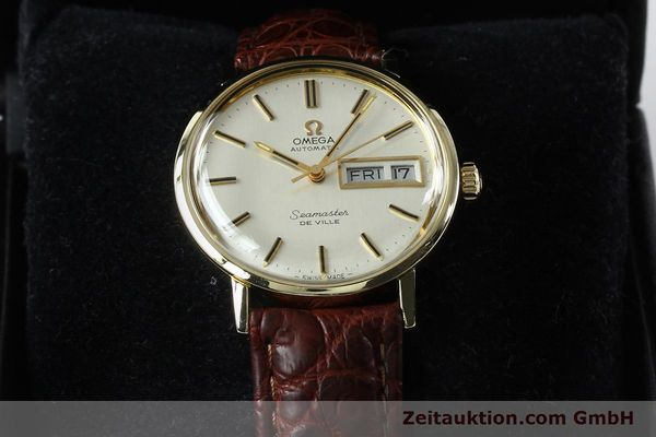 Used luxury watch Omega Seamaster 14 ct yellow gold automatic Kal. 1020 Ref. 004862 VINTAGE  | 141878 07