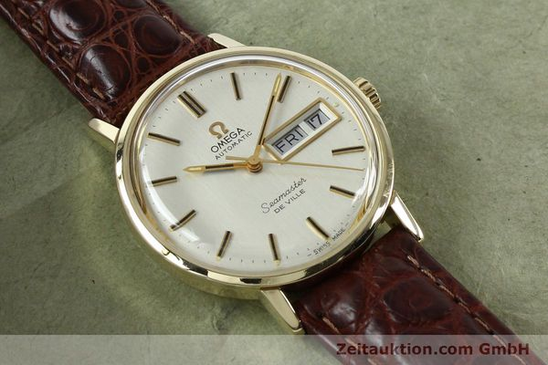 Used luxury watch Omega Seamaster 14 ct yellow gold automatic Kal. 1020 Ref. 004862 VINTAGE  | 141878 13
