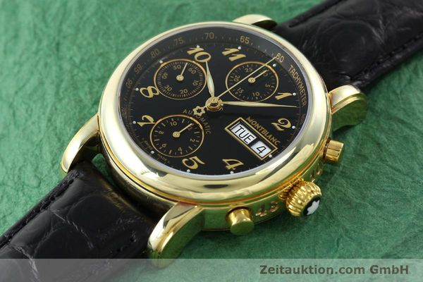 Used luxury watch Montblanc Meisterstück chronograph gold-plated automatic Kal. 4810501 ETA 7750 Ref. 7001  | 141880 01