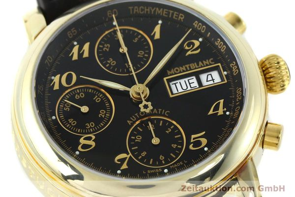 Used luxury watch Montblanc Meisterstück chronograph gold-plated automatic Kal. 4810501 ETA 7750 Ref. 7001  | 141880 02