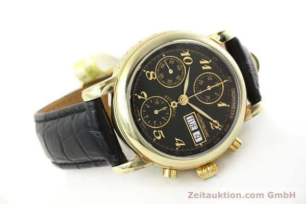 Used luxury watch Montblanc Meisterstück chronograph gold-plated automatic Kal. 4810501 ETA 7750 Ref. 7001  | 141880 03