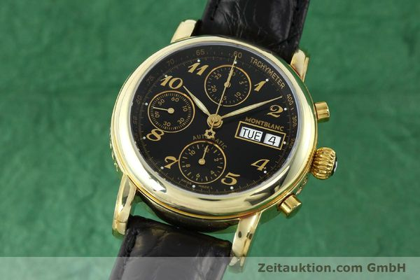 Used luxury watch Montblanc Meisterstück chronograph gold-plated automatic Kal. 4810501 ETA 7750 Ref. 7001  | 141880 04