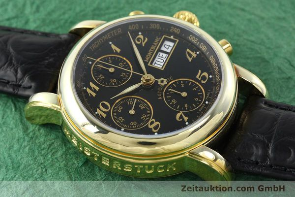 Used luxury watch Montblanc Meisterstück chronograph gold-plated automatic Kal. 4810501 ETA 7750 Ref. 7001  | 141880 13
