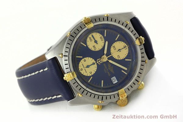 Used luxury watch Breitling Chronomat chronograph steel / gold automatic Kal. B13 VAL 7750 Ref. 81.950B13047  | 141881 03