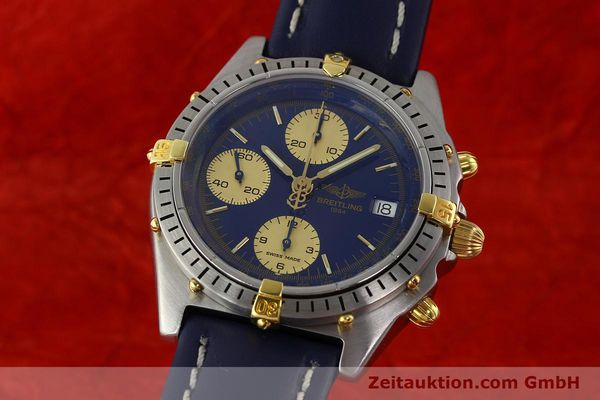 Used luxury watch Breitling Chronomat chronograph steel / gold automatic Kal. B13 VAL 7750 Ref. 81.950B13047  | 141881 04