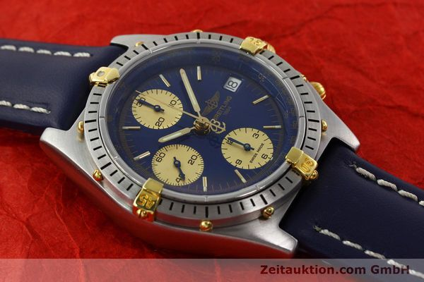 Used luxury watch Breitling Chronomat chronograph steel / gold automatic Kal. B13 VAL 7750 Ref. 81.950B13047  | 141881 14