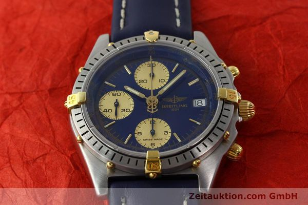 Used luxury watch Breitling Chronomat chronograph steel / gold automatic Kal. B13 VAL 7750 Ref. 81.950B13047  | 141881 15