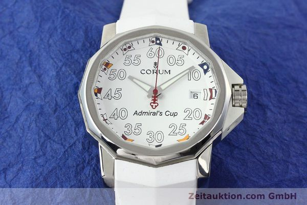 Used luxury watch Corum Admirals Cup steel automatic Kal. ETA 2892A2 Ref. 01.0010  | 141888 14
