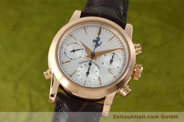 Used luxury watch Girard Perregaux Ferrari chronograph 18 ct red gold automatic Kal. 8290 Ref. 1509  | 141892 04