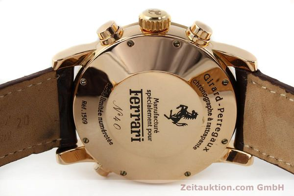 Used luxury watch Girard Perregaux Ferrari chronograph 18 ct red gold automatic Kal. 8290 Ref. 1509  | 141892 09