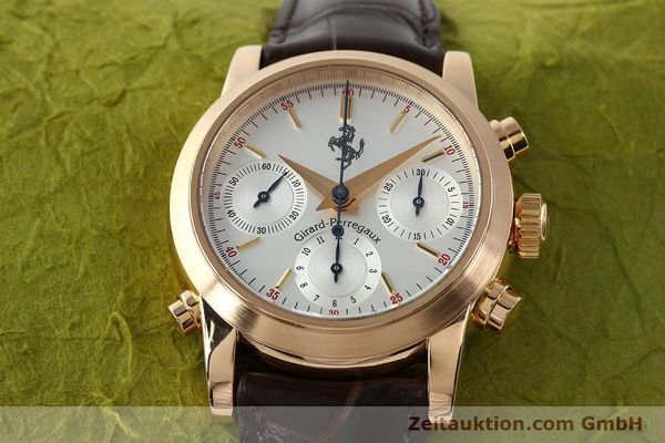 Used luxury watch Girard Perregaux Ferrari chronograph 18 ct red gold automatic Kal. 8290 Ref. 1509  | 141892 19