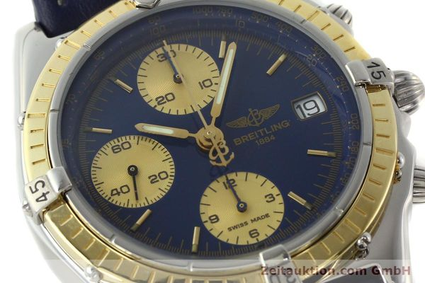 Used luxury watch Breitling Chronomat chronograph steel / gold automatic Kal. ETA 7750  | 141894 02