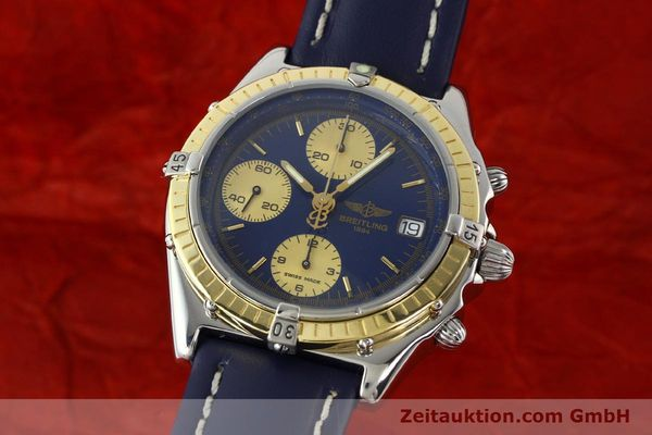 Used luxury watch Breitling Chronomat chronograph steel / gold automatic Kal. ETA 7750  | 141894 04
