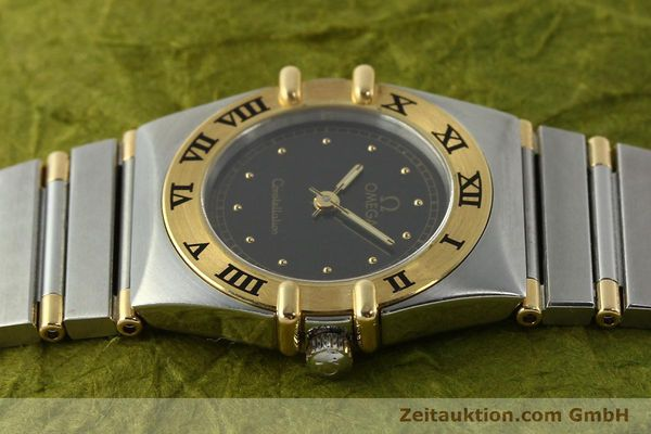 Used luxury watch Omega Constellation steel / gold quartz Kal. 1455 ETA 976001  | 141895 05