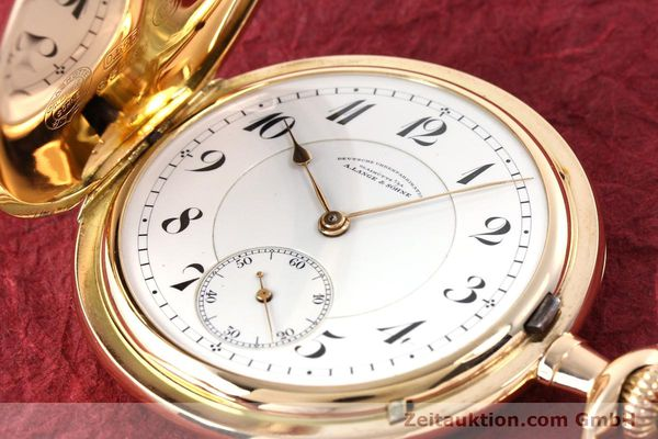 Used luxury watch A. Lange & Söhne DUF 14 ct red gold manual winding  | 141896 01