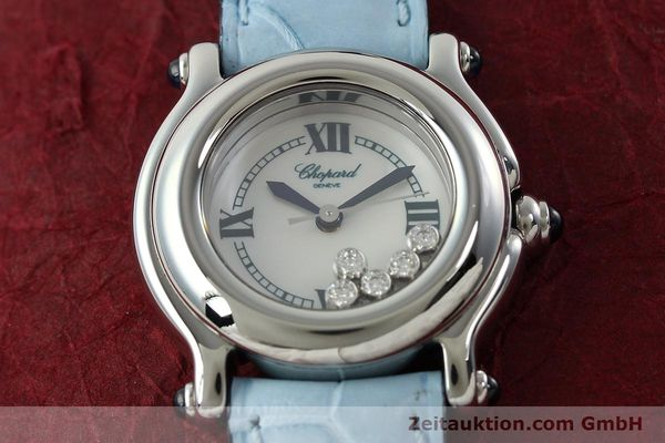 Used luxury watch Chopard Happy Sport steel quartz Kal. ETA 956102 Ref. 8245  | 141914 15