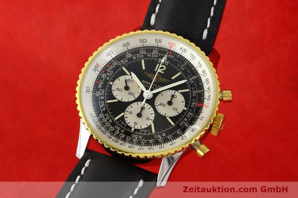 Used luxury watch Breitling Navitimer chronograph gilt steel manual winding Kal. Lemania 1873 Ref. 81800  | 141921 04