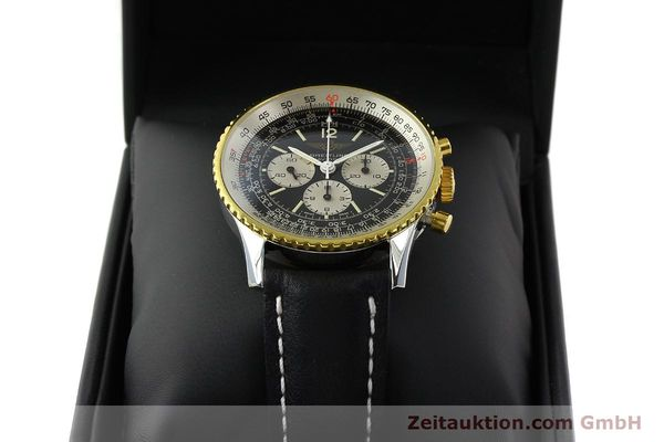 Used luxury watch Breitling Navitimer chronograph gilt steel manual winding Kal. Lemania 1873 Ref. 81800  | 141921 07