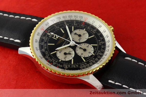 Used luxury watch Breitling Navitimer chronograph gilt steel manual winding Kal. Lemania 1873 Ref. 81800  | 141921 12