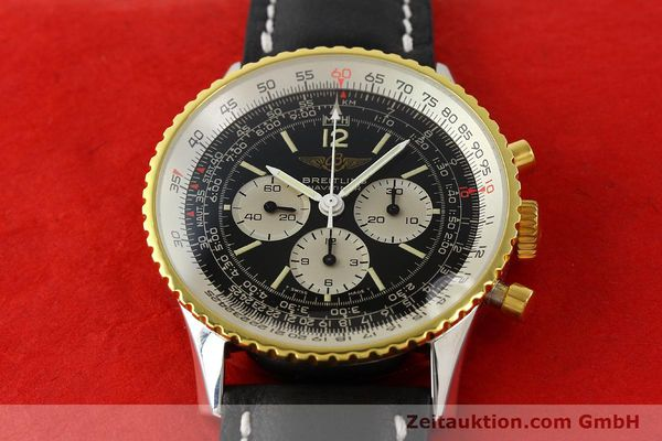 Used luxury watch Breitling Navitimer chronograph gilt steel manual winding Kal. Lemania 1873 Ref. 81800  | 141921 13