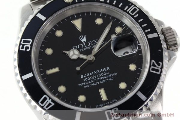 Used luxury watch Rolex Submariner steel automatic Kal. 3135 Ref. 16610  | 141923 02