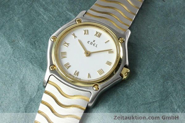 Used luxury watch Ebel Classic Wave steel / gold quartz Kal. 157 Ref. E1157111  | 141926 01