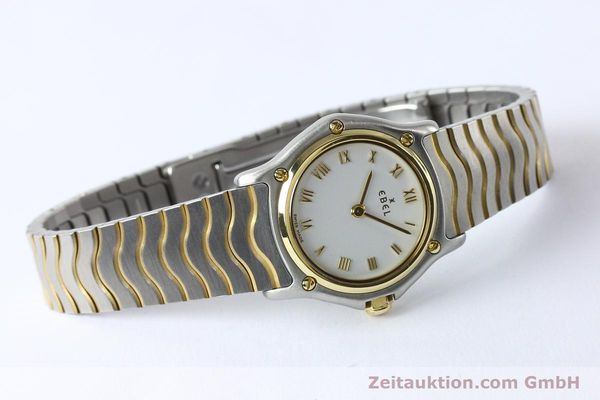 Used luxury watch Ebel Classic Wave steel / gold quartz Kal. 157 Ref. E1157111  | 141926 03