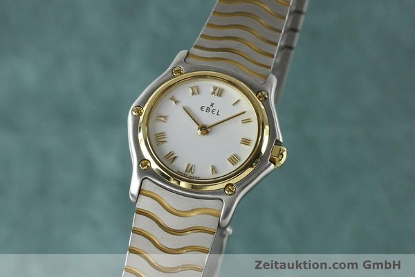 Used luxury watch Ebel Classic Wave steel / gold quartz Kal. 157 Ref. E1157111  | 141926 04