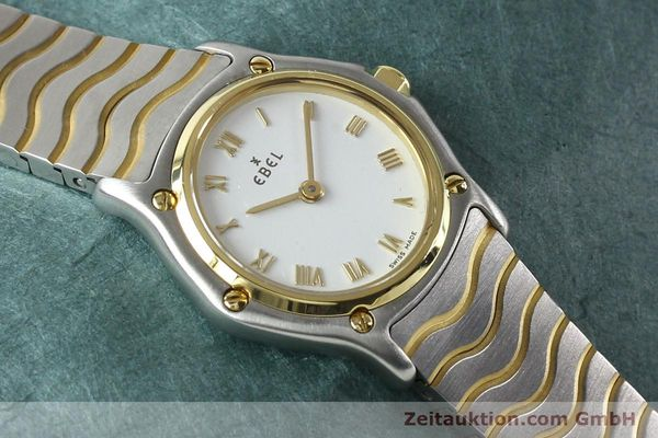 Used luxury watch Ebel Classic Wave steel / gold quartz Kal. 157 Ref. E1157111  | 141926 13