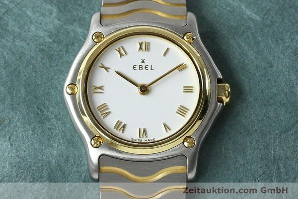 Used luxury watch Ebel Classic Wave steel / gold quartz Kal. 157 Ref. E1157111  | 141926 14