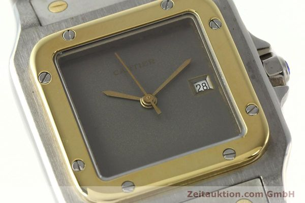 Used luxury watch Cartier Santos steel / gold automatic Kal. 76 ETA 2671  | 141928 02