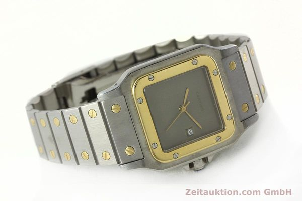 Used luxury watch Cartier Santos steel / gold automatic Kal. 76 ETA 2671  | 141928 03