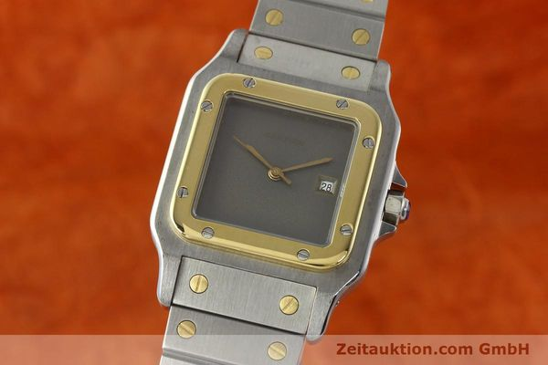 Used luxury watch Cartier Santos steel / gold automatic Kal. 76 ETA 2671  | 141928 04