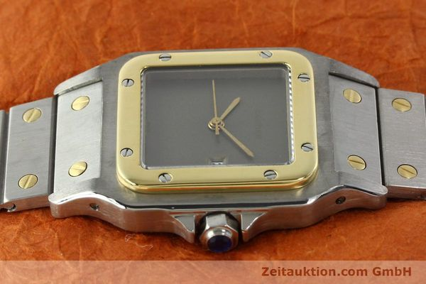 Used luxury watch Cartier Santos steel / gold automatic Kal. 76 ETA 2671  | 141928 05
