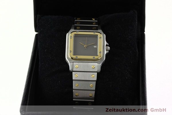 Used luxury watch Cartier Santos steel / gold automatic Kal. 76 ETA 2671  | 141928 07