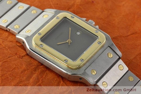 Used luxury watch Cartier Santos steel / gold automatic Kal. 76 ETA 2671  | 141928 13