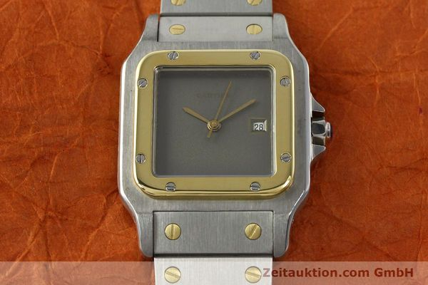 Used luxury watch Cartier Santos steel / gold automatic Kal. 76 ETA 2671  | 141928 14