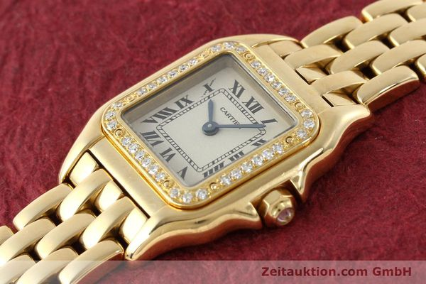 Used luxury watch Cartier Panthere 18 ct gold quartz Kal. 157  | 141936 01