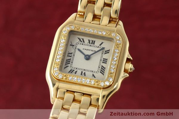 Used luxury watch Cartier Panthere 18 ct gold quartz Kal. 157  | 141936 04