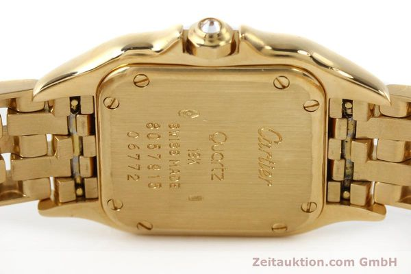 Used luxury watch Cartier Panthere 18 ct gold quartz Kal. 157  | 141936 09