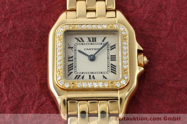 montre de luxe d occasion Cartier Panthere or 18 ct quartz Kal. 157  | 141936 14