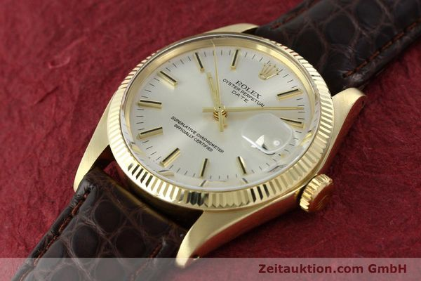 Used luxury watch Rolex Date 14 ct yellow gold automatic Kal. 1570 Ref. 1503  | 141939 01