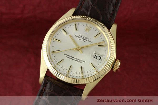 Used luxury watch Rolex Date 14 ct yellow gold automatic Kal. 1570 Ref. 1503  | 141939 04
