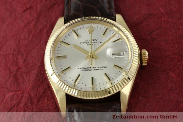 Used luxury watch Rolex Date 14 ct yellow gold automatic Kal. 1570 Ref. 1503  | 141939 16
