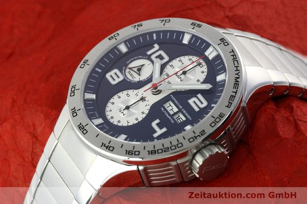 Used luxury watch Porsche Design Flat Six chronograph steel automatic Kal. ETA 7750 Ref. 6340.41/4  | 141943 01