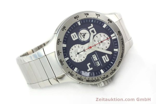 Used luxury watch Porsche Design Flat Six chronograph steel automatic Kal. ETA 7750 Ref. 6340.41/4  | 141943 03