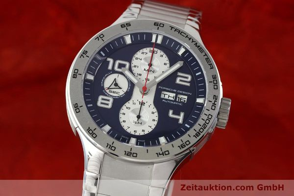 Used luxury watch Porsche Design Flat Six chronograph steel automatic Kal. ETA 7750 Ref. 6340.41/4  | 141943 04