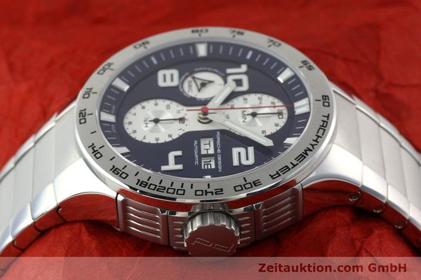 Used luxury watch Porsche Design Flat Six chronograph steel automatic Kal. ETA 7750 Ref. 6340.41/4  | 141943 05