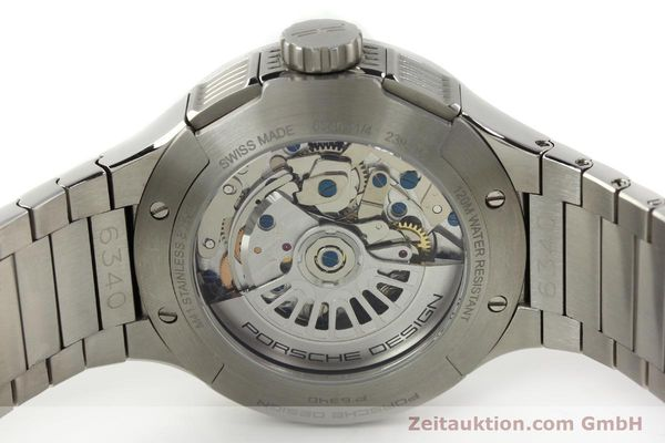 Used luxury watch Porsche Design Flat Six chronograph steel automatic Kal. ETA 7750 Ref. 6340.41/4  | 141943 09